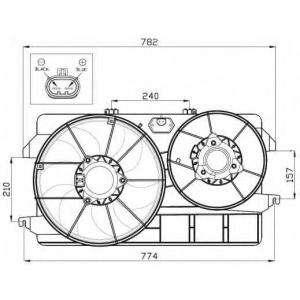 NRF 47452 Вентилятор охладження
