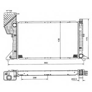 NRF 50558 Радіатор охолоджування