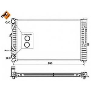 NRF 509504 Радиатор охлаждения двигателя EASY FIT