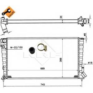 NRF 509510 Радиатор охлаждения двигателя EASY FIT