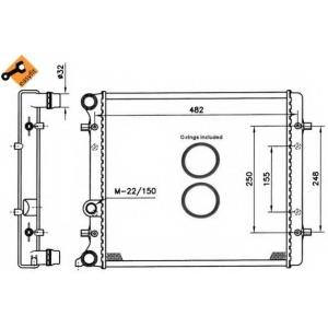 NRF 509530 Радіатор