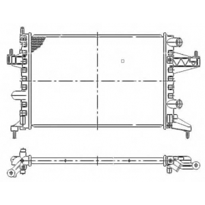 NRF 509596 Радиатор, охлаждение двигател