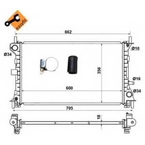 NRF 509615 Радиатор охлаждения двигателя EASY FIT
