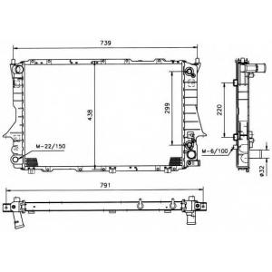 NRF 51321 Радиатор охлаждения двигателя