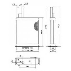 NRF 52066 Радіатор пічки