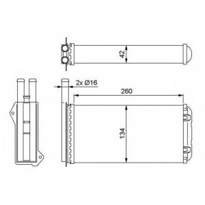 NRF 52220 Радіатор пічки
