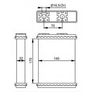 NRF 52230 Теплообменник, отопление салона