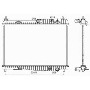 NRF 53152 Радиатор охлаждения двигателя