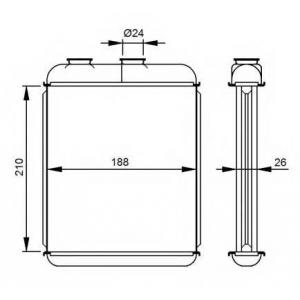 NRF 53215 Радиатор отопителя