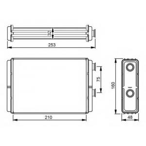NRF 53233 Радиатор печки