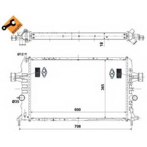 NRF 53442 Радиатор охлаждения двигателя EASY FIT