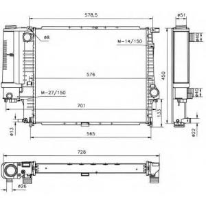 NRF 53852 Радіатор