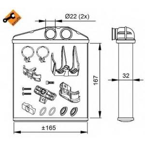 NRF 54208 Радиатор отопителя EASY FIT