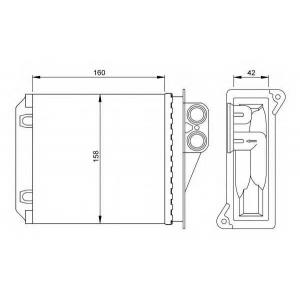 NRF 54236 Радиатор отопителя