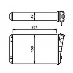 NRF 54238 Радіатор пічки