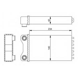 NRF 54252 Радіатор пічки