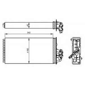 NRF 54297 Радиатор печки