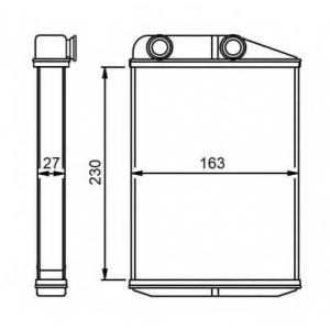 NRF 54309 Радиатор отопителя