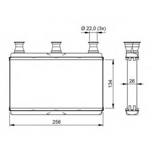 NRF 54311 Радиатор отопителя