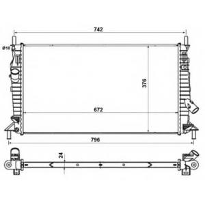 NRF 55327 Радиатор охлаждения двигателя
