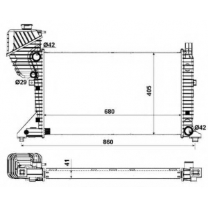 NRF 55348A Радіатор основний DB Sprinter Cdi 00-