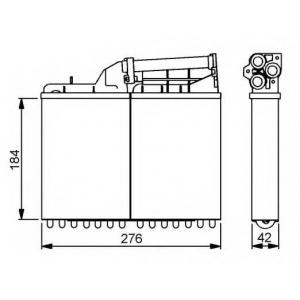 NRF 58053 Радиатор отопителя