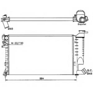 NRF 58183 Радиатор, охлаждение двигател