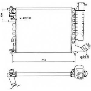 NRF 58184 Радиатор охлаждения двигателя