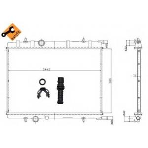 NRF 58304 Радиатор охлаждения двигателя EASY FIT