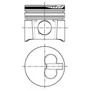 NURAL 87-104000-00 Поршень в комплекте на 1 цилиндр, STD