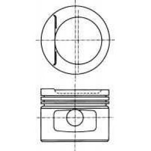 NURAL 87-109707-10 Поршень в комплекте на 1 цилиндр, 2-й ремонт (+0,50)