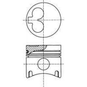 Поршень в комплекте на 1 цилиндр, 2-й ремонт (+0,5 8710980710 nural -