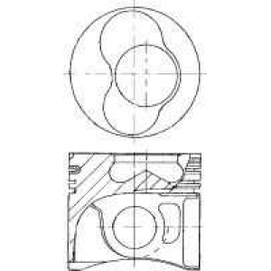 Поршень VW 79.5 ARL/ASZ/AVF/AWX/BLT (Cyl 3-4) 8711490035 nural -