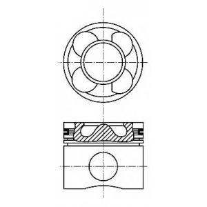 Поршень в комплекте на 1 цилиндр, STD 8713640000 nural -