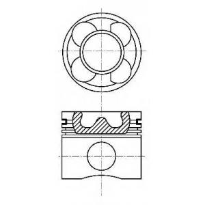 NURAL 87-137500-10 Поршень+кольца 89mm Renault G9U (3.5/1.75/2.5)