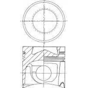 NURAL 87-179300-10 Поршень MB 128.0 OM441A/LA/OM442A/LA (ПОД ТРАПЕЦИЮ ШАТУНА) (пр-во Nural)