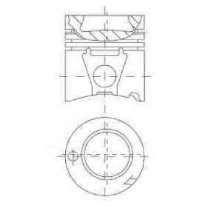 Поршень MB 128.0 OM442A/OM443A/OM444A TRAPEZ (пр-в 8717930085 nural -