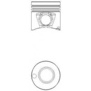 Поршень BNZ MB 128.0 OM442A/OM443A/OM444A (пр-во N 8717930090 nural -