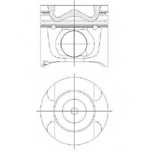 Поршень, комплект MB ML,S,C OM642 05- (4-6 цил.) 8742740010 nural -