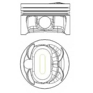 NURAL 87-433900-00 Поршень к-т на мотор