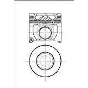 NURAL 87-434300-00 Поршень VAG 83.0 3.0 TDi ASB/BNG/BMK/BKN/BKS/BUG/BUN/CASB/CATA/CDYB 2003-> (пр-во Nural)