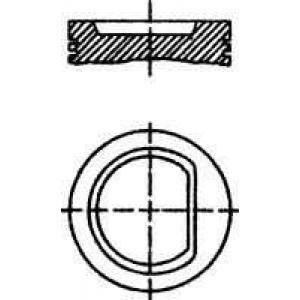 NURAL 87-502807-00 Поршень VAG 77,01 1.4 AEX/APQ 95- (пр-во NURAL)