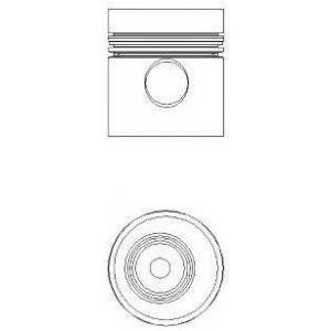 NURAL 87-740000-20 Поршень MB 97.50 OM364/OM366LA EURO1 (пр-во Nural)
