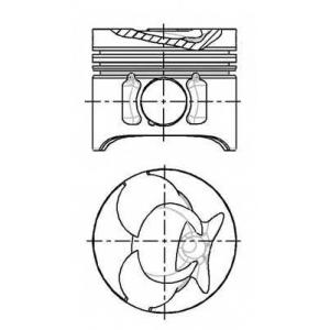 NURAL 87-743100-40 Поршень в комплекте на 1 цилиндр, STD