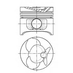 Поршень в комплекте на 1 цилиндр, 2-й ремонт (+0,5 8774310710 nural -