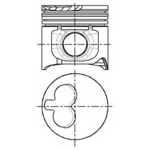 NURAL 87-783300-00 Поршень FIAT/IVECO 93.0 2.5TD