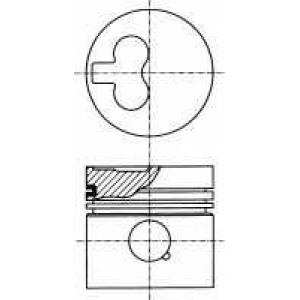 NURAL 87-990107-10 Поршень VAG 80,01 1,9TD AAZ/ABL (пр-во NURAL)