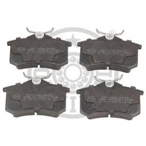 OPTIMAL 9540 Колодки тормозные дисковые задние, комплект