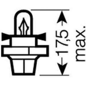 Лампа накаливания PBX4 12V 1.5W BX8.4D (пр-во Magn 2452mfx6 osram -