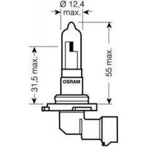 9005 osram Лампа накаливания, фара дальнего света; Лампа нака LAND ROVER FREELANDER вездеход закрытый 2.2 eD4